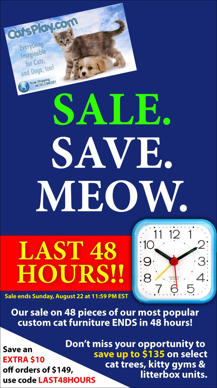 CatsPlay.com Cat Furniture Sale - Last 48 hours!
