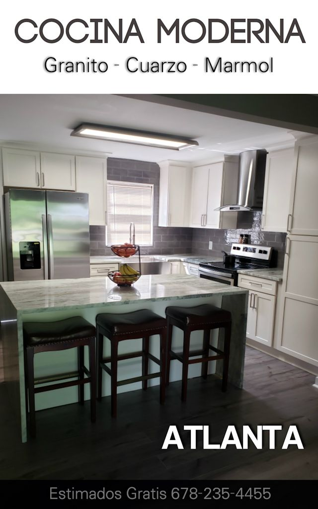 Atlanta Cocina Moderna Gris Estimado Gratis #cocinamoderna #atlantacocinacuarzo