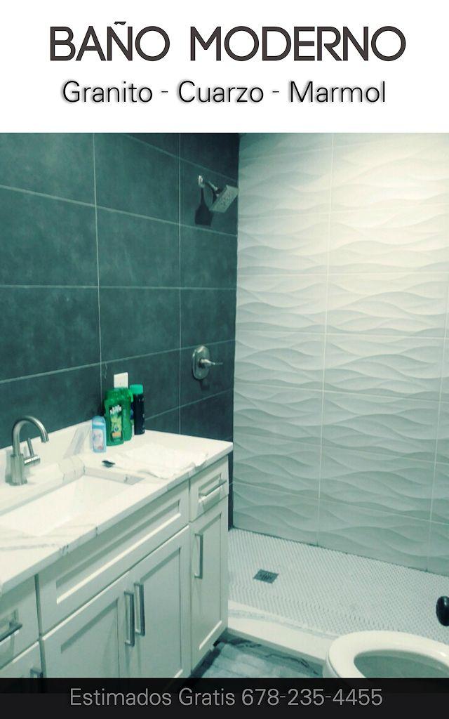 Baño Moderno Atlanta Cuarzo Estimado Gratis #modernbathroomatlanta
