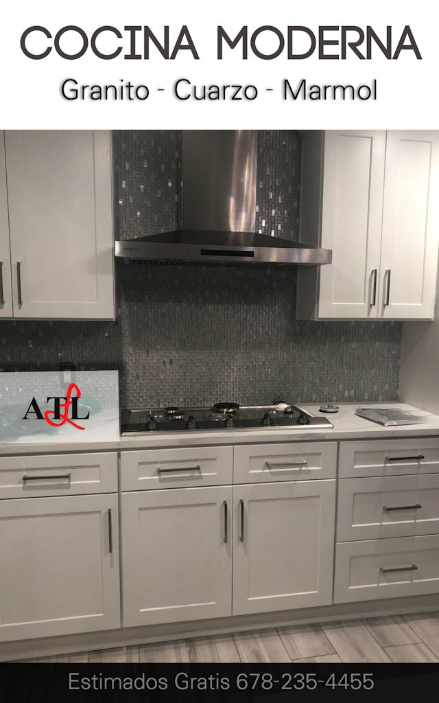 Cocina Moderna Blanca Atlanta Estimado Gratis #cocinamodernablanca