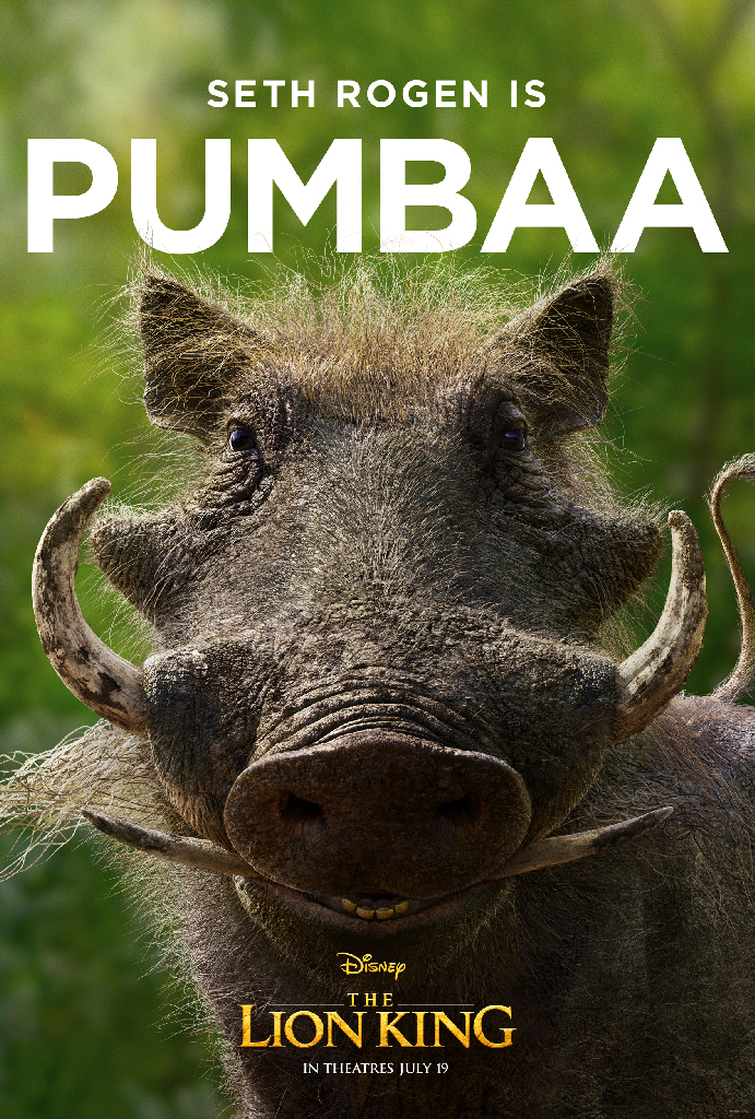 Disney Lion King 2019 Pumbaa Seth Rogen
