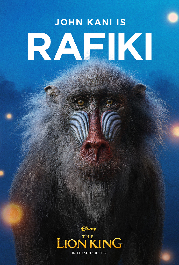 Disney Lion King 2019 Rafiki John Kani