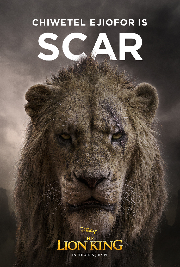 Disney Lion King 2019 Scar Chiwetel Ejiofor