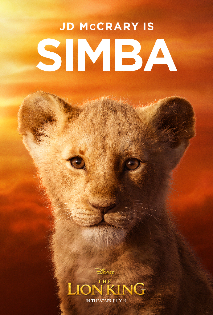 Disney Lion King 2019 Simba JD McCray