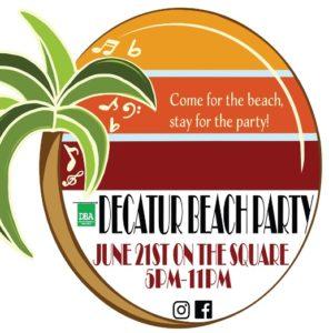Decatur Beach Party 14 2019 Logo