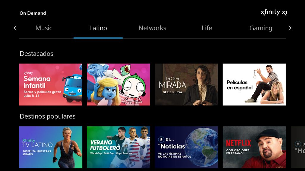 Comcast X1 Latino Kids