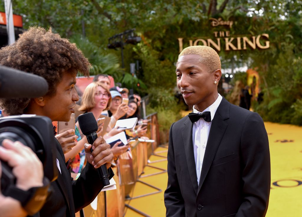 Disney Lion King European Premiere Producer Pharrell Williams