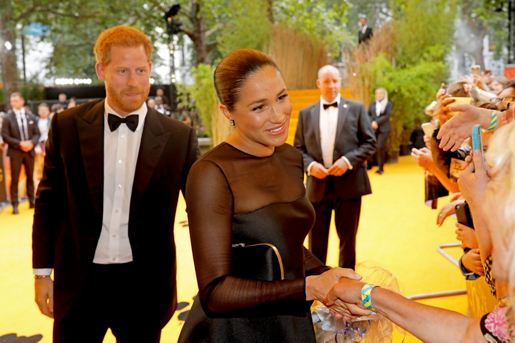 Disney Lion King London Premiere Harry Duke Sussex Meghan Duchess Sussex