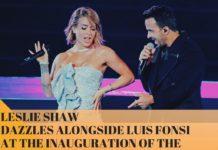 Leslie Shaw Y Luis Fonsi Inaugurationpan American Games 2019
