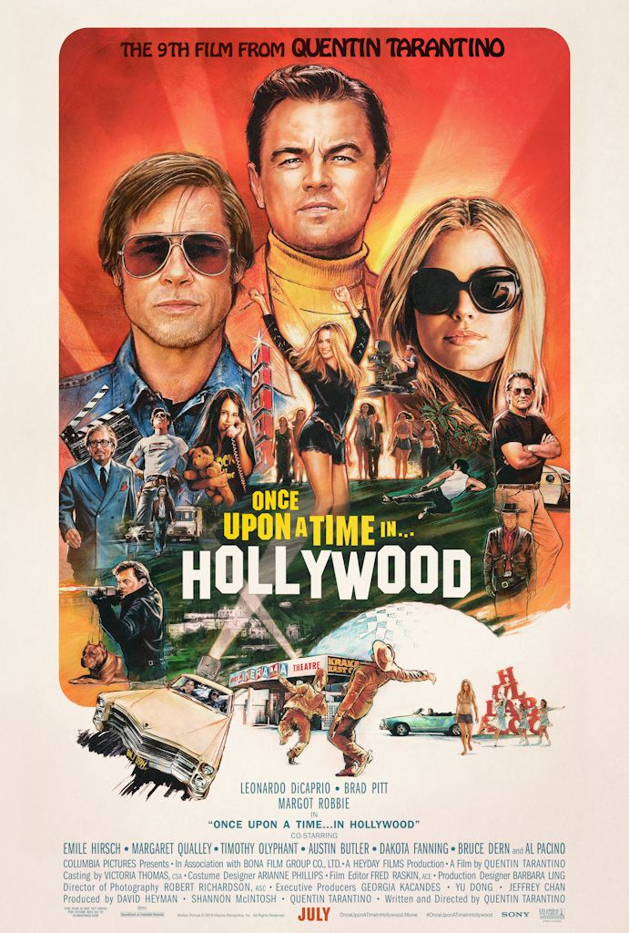 Brad Pitt, Leonardo Dicaprio And Margot Robbie Once Upon A Time In Hollywood