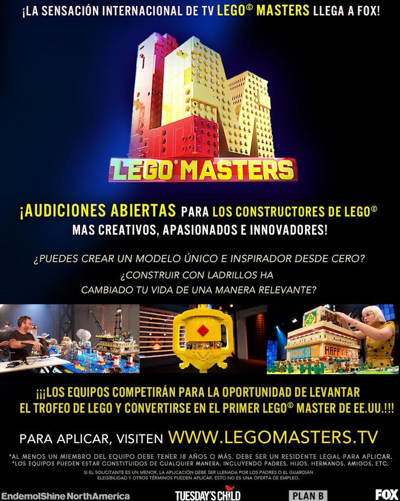 Casting Lego Masters Atlanta Ga Usa