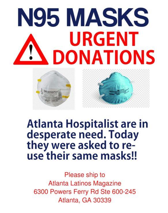 atlanta-n95-masks-urgent-donations